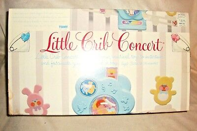 Vintage Musical Crib Toy - Little Crib Concert  - Tomy 1983