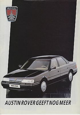AUSTIN ROVER - Full Range brochure/prospekt/folder Dutch 1987