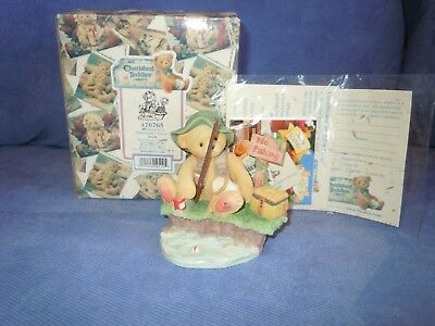 NEW CHERISHED TEDDIES Norm Patience Is A Fisherman's Virtue Figurine 476765 1998