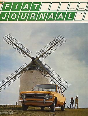 Fiat Range Magazine (Fiat Journaal) 124/125 Dutch 2/1971