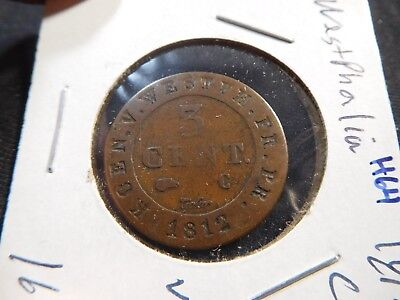 H64 German State Westphalia 1812-C 3 Cent