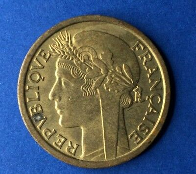 French West Africa 1 Franc 1944 Vintage WW2 Era France African Colony Coin