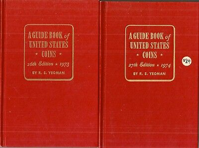 "Copies of 1973, 1974 ""Red Book"" by R S Yeoman ""Guide Book of US Coins"""