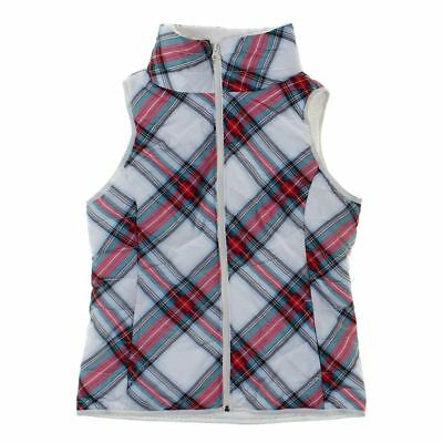SO Girls  Vest, size JR 3,  white, red, turquoise,  polyester