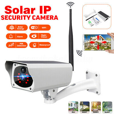 Full HD 1080p Solar WiFi P2P Outdoor Wirefree Security IP Camera Night Vision AU