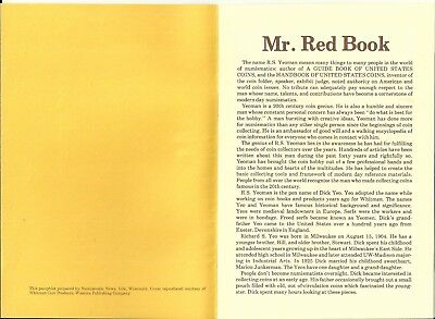 "1978 pamphlet ""Mr. Red Book"" story of R. S. Yeoman by Numismatic News 12 pages"