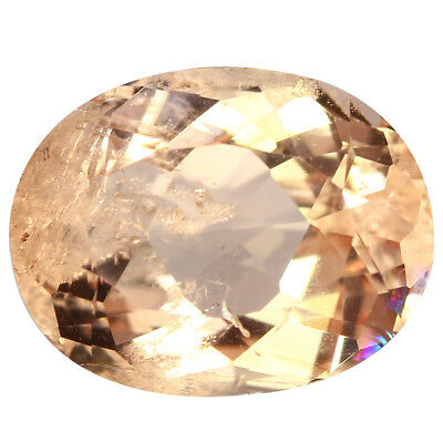 2.44Ct Shimmering Oval cut 10 x 8 mm 100% Natural Pink Morganite