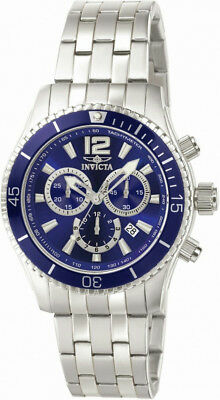 Invicta Specialty 0620 Men's Round Royal Blue Analog Chronograph Date Watch