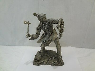 "Jim Porter Franklin Mint Comanche Warrior Western Heritage 9.25"" Pewter Statue"