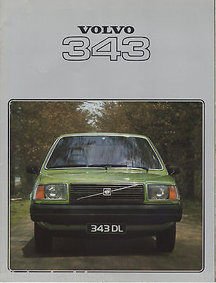 VOLVO - 343 brochure/prospekt/folder Dutch 1978