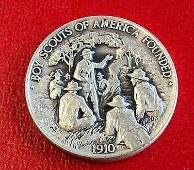 Boy Scouts of America Founded By Danbury Mint USA 35.5 Grams.925 Fine Silver
