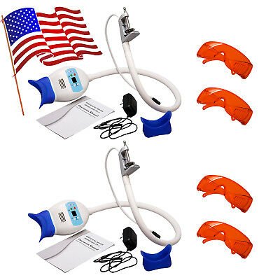 2X Dental Teeth Whitening LED Lamp Bleaching Blue Light Accelerator MG^RDS