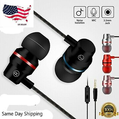 HIFI Super Bass Headset 3.5mm In-Ear Earphone Stereo Earbuds Headphone Wired