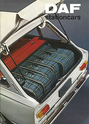 DAF - Stationcars brochure/prospekt/folder Dutch 1974