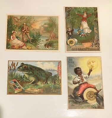 Victorian Era Trade Cards -Lot of 4 - J. & P. COATS Spool Cotton 1880