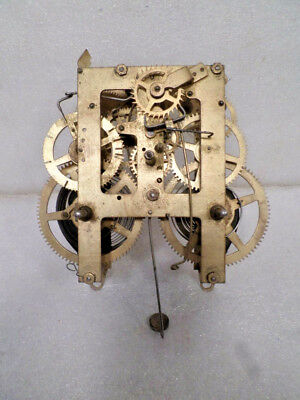 E. Ingraham Shelf Clock Movement For Parts or Replacement