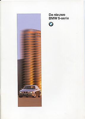 BMW - 5 Serie brochure/prospekt/folder Dutch 1995