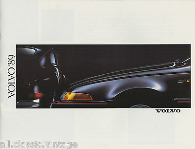 VOLVO - Range/Gamma brochure/prospekt/folder Dutch 1989