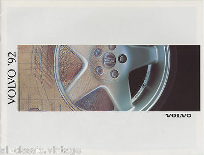 VOLVO - Range/Gamma brochure/prospekt/folder Dutch 1992