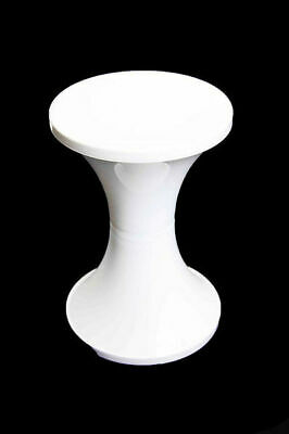Bulk Lot x 24 White Arcade Retro Wedding Party Plastic Stool Party Seat Kitchen