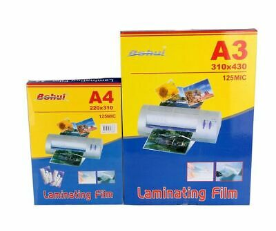 Pack Of 100 A3 Laminating Pouches 125 Micron Gloss Finish