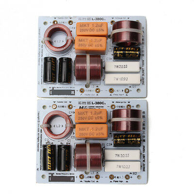 2X KASUN L-380C 3 Way 3 Unit Hi-Fi Speaker Frequency Divider Crossover Filters