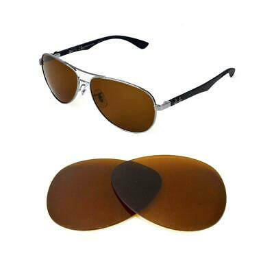 be5536354c New Polarized B15 Brown Replacement Lens Fit Ray Ban Rb3549 58Mm Sunglasses