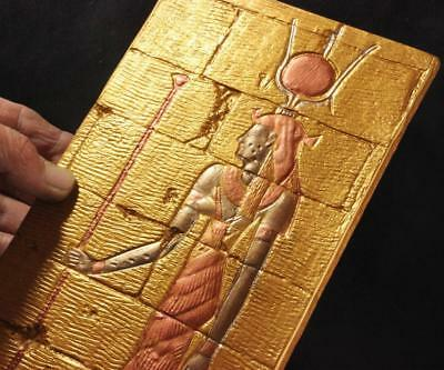 EGYPTIAN GODDESS ISIS Temple Relief reproduction stone panel