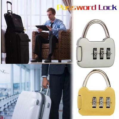 3 Digit Number Combination Luggage Suitcase Mini Security Cable Lock Padlock