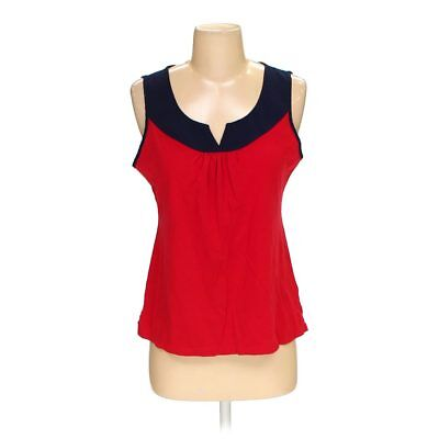 Nautica Women's Sleeveless Top, size S,  blue/navy, red,  cotton, modal