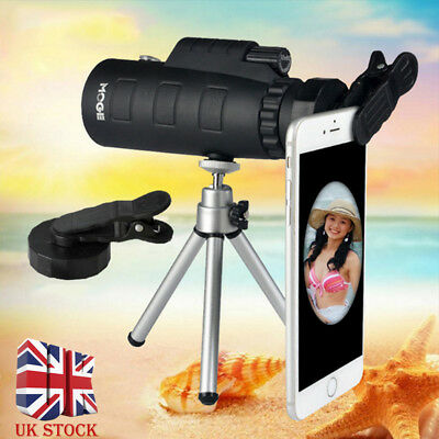 50X60 Zoom Optical Telescope HD Lens Monocular Kit + Tripod + Clip Mobile Phone