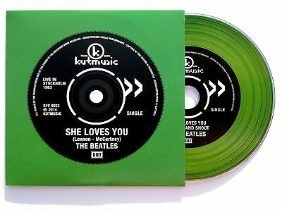 "The Beatles ""She Loves You / Twist and Shout (Live in Stockholm 1963) cd single"