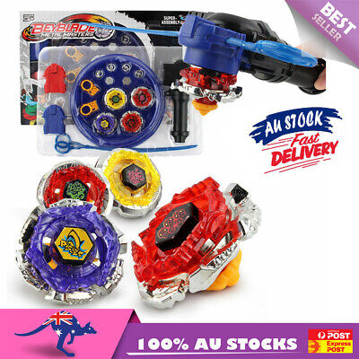 4D Beyblade Stadium Metal Master burst Fusion Fight Rare Launcher Grip Set