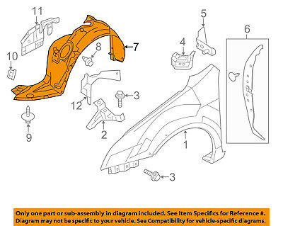 8S4Z16102A New For Ford Focus Front,Right Passenger Side Fender Liner FO1249131