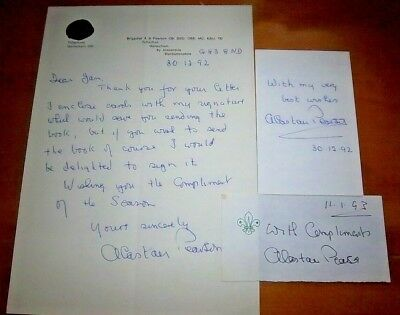 Unique  -  Brigadier Alastair Pearson Signed Letter & Signed Extras