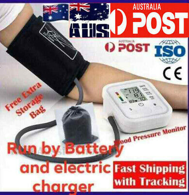 digital blood pressure monitor machine upper arm automatic bp with carry bag