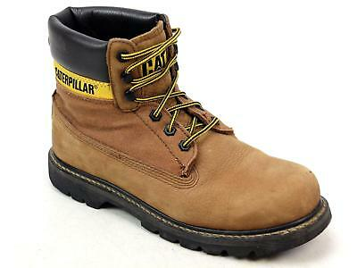 Mens Caterpillar Cat Colorado High Tan Leather Work Ankle Boots Shoes Uk Size 9