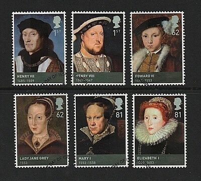 GB Stamps 2009 'Kings & Queens, House of Tudor' sg2924-2929 - Fine used