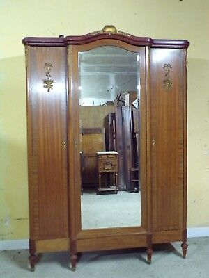No reserve Satinwood Gilt mounted three door Armoire C1920