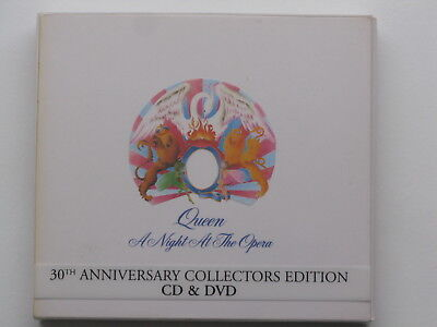"""Queen """"a Night At The Opera"""" Classic Rock Near Mint Condition Cd + Dvd + Booklet"""