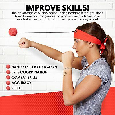 Boxing Reflex Ball Headband Workout for Reaction Training Hand Eye Coordination