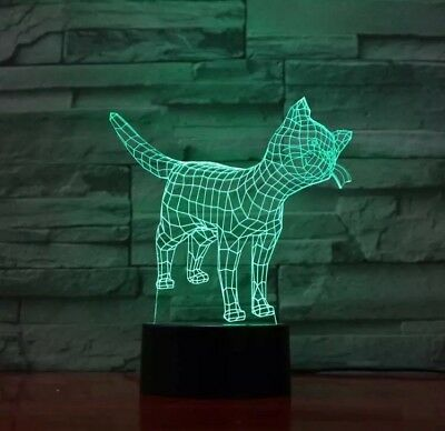 Katze 3d Cat Led Beeindruckend Lampe Mandala 95 21 Illusion Eur 9HED2WIY