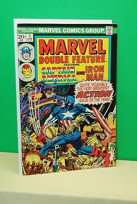 Marvel Double Feature #3 1974 Stan Lee Jack Kirby Gene Colan Capt America  Vf
