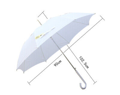 Bulk Lot x 12 Classic White Wedding Umbrella White Handle