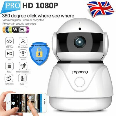 HD1080P Wireless WiFi Smart Home Security IP Camera Video Baby Dog Monitor UK