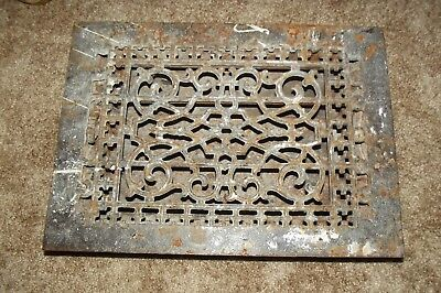 Antique Cast Iron Wall Floor Heating Vent Grate Register
