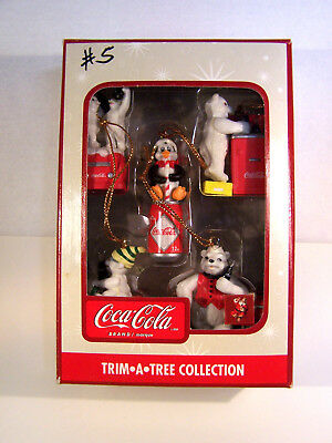 Coca Cola  Trim A Tree Miniature Collection Ornaments  New In Package Lot 3