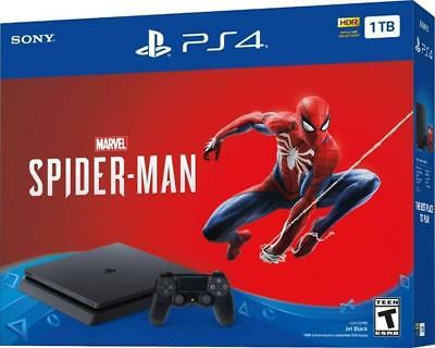 Marvel's Spider-Man PS4 Sony PlayStation 4 Slim 1TB Jet Black Console