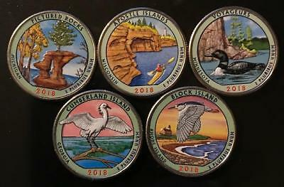 2018 D Colorized National Park Quarter Set