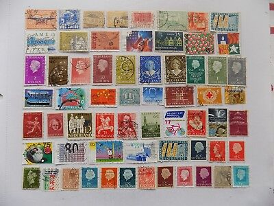 Netherlands Coll'n of stamps off paper defin.and Comm-1-2-